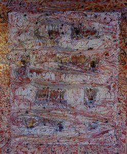 Ten little secrets 120 X100 10 contenitori di pellicole PVC Smalt, Telaio in legno 1996