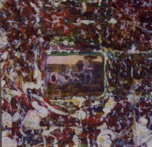 American Graffiti 3 100X100 Tela elaborata al computer Acrilici Smalti 1994