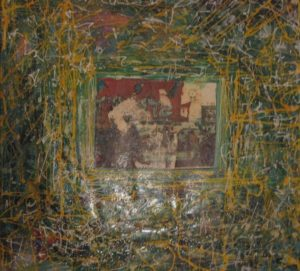American Graffiti 2 100X100 Tela elaborata al computer Acrilici Smalti 1994