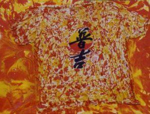 Asia 70X70 T shirt Smalti resine su tela 1993