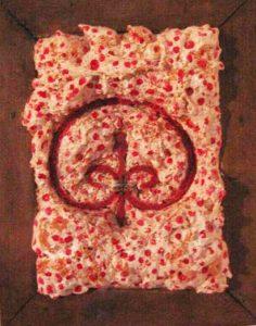 Lapsed Nobility 45X35 Simbolo in ferro battuto, PUR acrilici in cornice invasa 1998