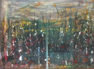 Landscape100X70  fFori secchi legno Acrilici 1980