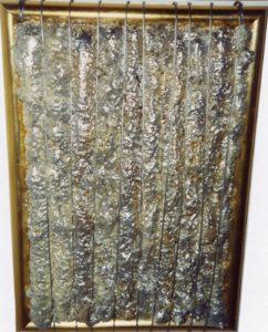 Steel Energy 55X40 Cavo d'acciaio, PUR acrilici in cornice invasa 1998
