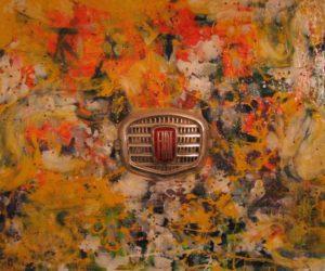 Torino anni 70 50X50  Stemma Acrilici smalti Su tela 1992